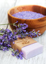 Lavender spa products Royalty Free Stock Photo