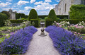 Lavender sundial Royalty Free Stock Image