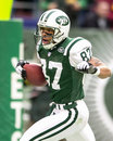 Laveranues coles new york jets wr image taken from color slide Stock Photography
