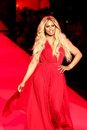 Laverne cox new york feb actress wears donna karan at go red for women the heart truth red dress collection at mercedes benz Stock Photos
