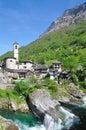 Lavertezzo,Verzasca Valley,Ticino Royalty Free Stock Photo