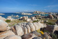 Lavezzi islands with blue sky corsica france colorful national park of and sea Stock Photos