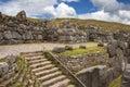Lavoro in pietra del Inca - Sacsayhuaman - Perù Immagini Stock Libere da Diritti