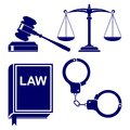 Law abstract icon set vector  illustration Stock Photo