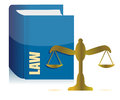 Law book and balance illustration design Stock Photo