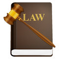 Law book and gavel Royalty Free Stock Photography