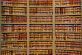 Law books on shelves in the library of the old mississippi state capitol building in jackson mississippi Stock Images