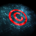 Law concept: Copyright on digital background Royalty Free Stock Photography