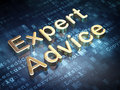 Law concept: Golden Expert Advice on digital