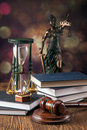 Law concept mallet legal code and scales of justice studio shots Stock Photography