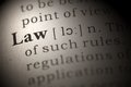 Law dictionary definition of the word Royalty Free Stock Image