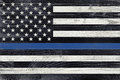 Law Enforcement Support Flag Royalty Free Stock Photo