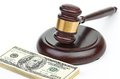 Law gavel on a stack of american money see my other works in portfolio Stock Photography
