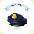 Law icon police hat Royalty Free Stock Photo