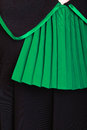 Law justice closeup lawyer attorney classic polish black green gown court or concept of poland Royalty Free Stock Photography
