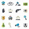Law and justice icons this image is a vector illustration Stock Image