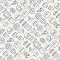 Law and justice seamless pattern