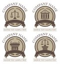 Law or Lawyer Seal Set Royalty Free Stock Photo