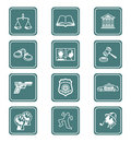 Law and order icons | TEAL series Stock Image