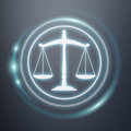 Law protection right icons 3D rendering