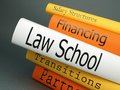 Law school law practice books a horizontal stack of related book titles Royalty Free Stock Photo