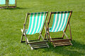 Lawn chairs Royalty Free Stock Photos
