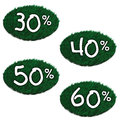Lawn discounts d rendering geen Royalty Free Stock Photography
