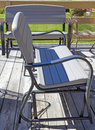 Lawn Furniture And Chair On Deck Royalty Free Stock Photo