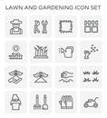 Lawn gardening icon