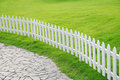 Lawn and railing Royalty Free Stock Photo