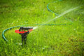 Lawn sprinkler with copyspace Royalty Free Stock Photo