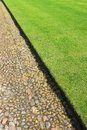 Lawn and Stone Path Royalty Free Stock Photography