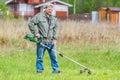 Lawnmower man Royalty Free Stock Photo