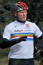 Lawrence Dallaglio Cycle Slam Royalty Free Stock Photos