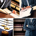 Lawyer businessman working at his desk Royalty Free Stock Photos