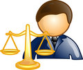 Lawyer career icon or symbol Stock Photography