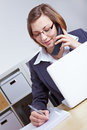 Lawyer giving consultation by phone Stock Images