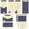 Lawyer template design brochure flyer and business card in one package and fully editable Stock Photos