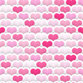 Layered heart seamless background valentine's day tile with rows of hearts and drop shadows please note this file is eps it uses Royalty Free Stock Images