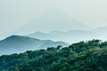 Layered hills with Mount Kaimon Royalty Free Stock Image