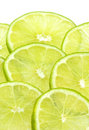 Layered Limes with White Background Stock Image