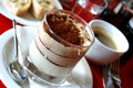 Layered tiramisu dessert