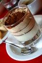 Layered tiramisu dessert (vertical)