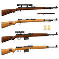 Layered vector illustration of antique germany rifle Royalty Free Stock Photos