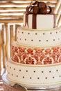 Layered White Wedding Cake Wit...