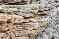 Layers of eroded limestone rock Royalty Free Stock Photo