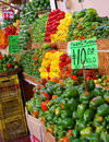 Layers of fresh bell peppers Royalty Free Stock Photo