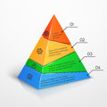 Layers hierarchy pyramid chart vector presentation infographic template Royalty Free Stock Photo