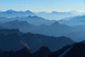 Layers of mountains stunning panorama in the alps with a majestic view on the high peaks the ecrins massif national park france Stock Photography