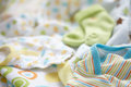 Layette for newborn baby boy see my other works in portfolio Royalty Free Stock Photos